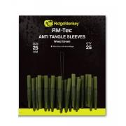 Ridge Monkey RM-Tec Anti Tangle Sleeves Weed Green Short 25 mm