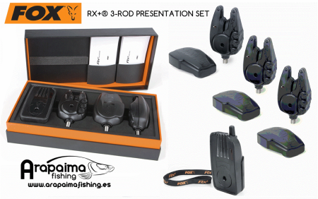 OFERTA!! ALARMAS FOX RX+® 3-ROD PRESENTATION SET