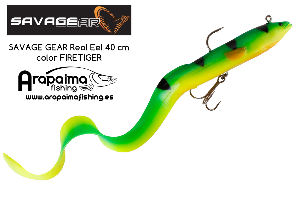 SAVAGE GEAR Real Eel 40 cm color FIRETIGER