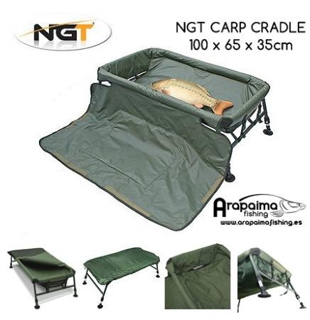 NGT Cuna patas regulables Carp Cradle Shallow Deluxe (101x62 cm)