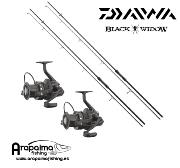 OFERTA PACK STALKER: 2 Cañas Daiwa Black Widow 10 pies + 2 Carretes Daiwa Black Widow 5000A