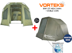 OFERTA BLACK FRIDAY! Bivvy VORTEKS DT HIGH 2 Man 1,90 m alto suelo cremallera + Doble Capa