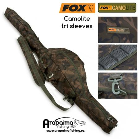 FOX FUNDA 3 CAÑAS 10 FT CAMOLITE TRI SLEEVE