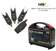 NGT Maletin de 3 alarmas + receptor Wireless VS con Snag Ears