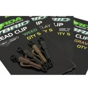 KORDA HYBRID LEAD CLIP color gravel (marron) 8 unid.