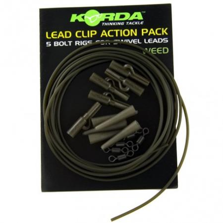 KORDA LEAD CLIP ACTION PACK 5 sets color verde