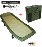 OFERTA PACK: NGT BED CHAIR CLASSIC WITH RECLINER + BOLSO DE TRANSPORTE