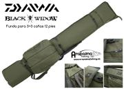 DAIWA  FUNDA BLACK WIDOW 3 cañas de 12 pies (3,60 m)