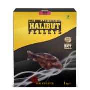 SBS HIGH OIL PRE-DRILLED HALIBUT PELLETS 14 mm 1 kg
