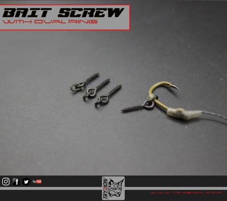 TRYBION TACKLE BAIT SCREW BLACK 12 mm  (Cáncamos para pop ups y flotantes)