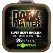 KORDA DARK MATTER COATED BRAID TUNGSTEN 25 Lb 20 m color weed green