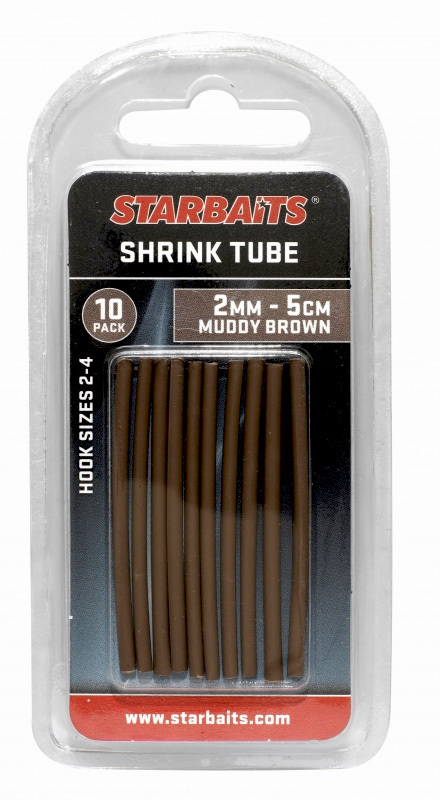STARBAITS SHRINK TUBE 2 mm muddy brown tubo termorretractil