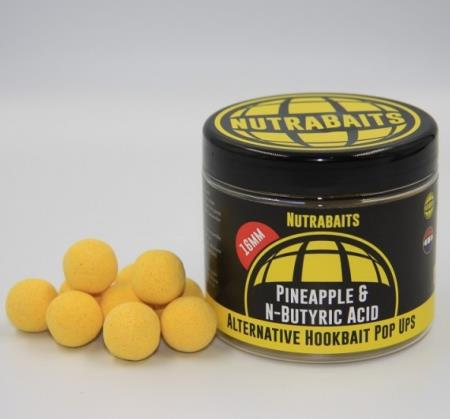 NUTRABAITS ALTERNATIVE HOOKBAIT POP UPS  16 mm PINEAPPLE & N-BUTYRIC ACID