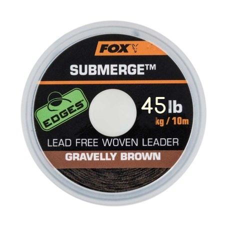 FOX SUBMERGE LEACORE SIN PLOMO GRAVELLY BROWN 45 lb (13,6 kg) 10 m