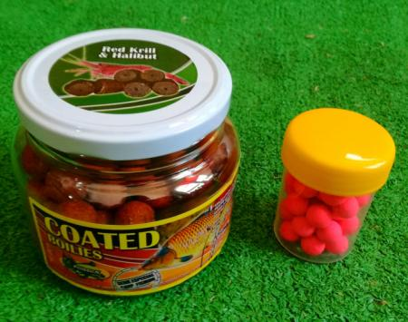 POISSON FENAG COATED HOOKBAITS & POP UPS RED KRILL HALLIBUT