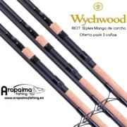 OFERTA PACK! 3 Cañas WYCHWOOD RIOT 12FT 3,25LB (Mango Corcho)