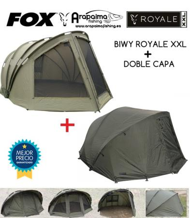 OFERTA PACK: FOX ROYALE XXL 3+1 PLAZAS + DOBLE CAPA