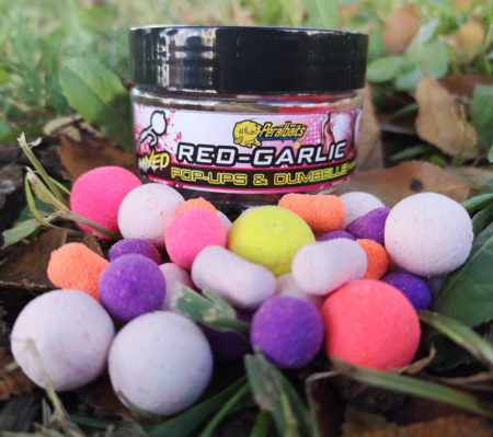 PERALBAITS POP UPS MIXED RED GARLIC 14-18 mm 150 gr