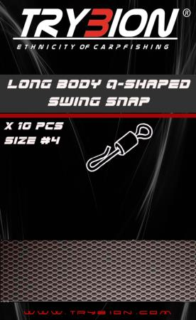 TRYBION TACKLE ENGANCHE RAPIDO LONG BODY Q-SHAPED SWING SNAP