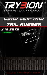 TRYBION TACKLE LEAD CLIP AND TAIL RUBBER VERDE