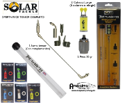 OFERTA PACK SOLAR TACKLE TENSOR COMPLETO TITANIUM LONG ARM INDICATOR SYSTEM + CABEZA (5 colores) + PESA