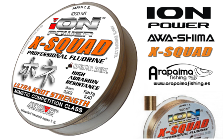 AWA-SHIMA ION POWER X-SQUAD PROFESSIONAL FLUORINE 0,40mm 20.50 kg 1000 m