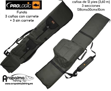 PROLOGIC CRUZADE FUNDA 3+3 CAÑAS 12 ft (3,60 m) 3 TRAMOS
