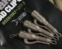 KORDA HYBRID LEAD CLIP QC color gravel (marron) 8 unid.