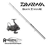 OFERTA PACK STALKER: Caña Daiwa Black Widow 10 pies + Carrete Daiwa Black Widow 5000A