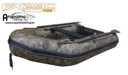 FOX FX 320 CAMO INFLATABLE BOAT INC. HARD MARINE PLY FLOOR