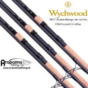 OFERTA PACK! 3 Cañas WYCHWOOD RIOT 10FT 3LB (Mango Corcho)