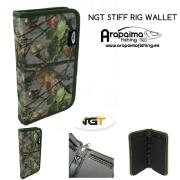 Carpeta para Bajos NGT STIFF RIG WALLET CAMO WITH PINS