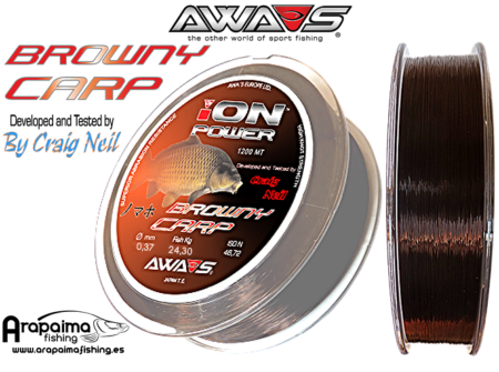 NUEVO: AWA-SHIMA ION POWER BROWNY CARP 0,37mm 24,30kg 1200m